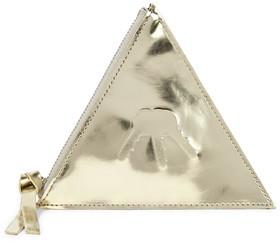 MM6 Maison Margiela Embossed Metallic Faux Leather Key Wallet