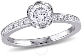 Laura Ashley 14K White Gold 1 CT TW Diamond Bridal Ring- Size 10