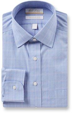 Roundtree & Yorke Gold Label Non-Iron Regular Full-Fit Spread Collar Glen Plaid Dress Shirt