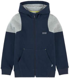 BOSS Bi-material hoodie