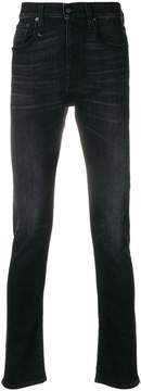 R 13 stonewashed slim-fit jeans