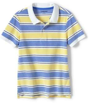 Lands' End Lands'end Toddler Boys Oxford Stripe Mesh Polo