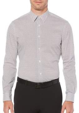 Perry Ellis Dot-Print Button-Down Shirt