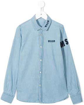 MSGM logo denim shirt