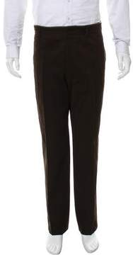 Hermes Leather-Trimmed Felted Pants