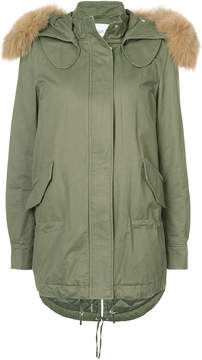 Derek Lam 10 Crosby Fox-Trimmed Parka With Inside Quilting