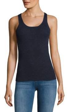 Saks Fifth Avenue BLACK Pull-On Racerback Tank Top