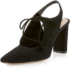 The Row Camil Suede Tie-Front Pump
