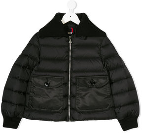 Moncler detachable collar padded coat