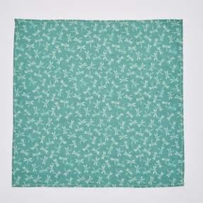 Blade + Blue Jade Green Dragonfly Print Pocket Square