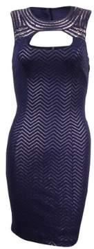 GUESS Women's Chevron Cutout Sheath Dress (0, Ink)