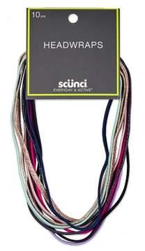 Scunci 5mm Flat Elastic Headwraps - 10pk