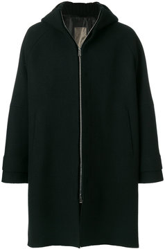 Jil Sander zipped hooded coat