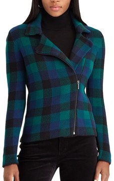 Chaps Women's Asymmetrical Moto Jacket