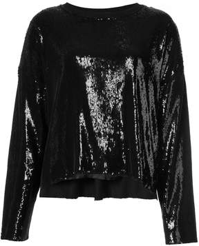 RtA Sequin Long-Sleeve Top