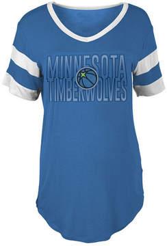 5th & Ocean Women's Minnesota Timberwolves Hang Time Glitter T-Shirt