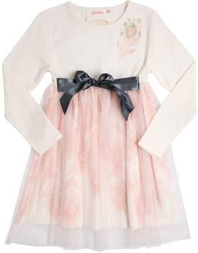 Billieblush Cotton Jersey & Tulle Dress