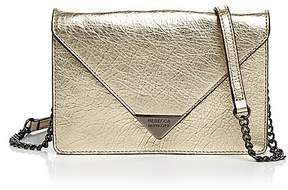 Rebecca Minkoff Molly Leather Crossbody - LIGHT GOLD/GUNMETAL - STYLE
