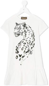 Roberto Cavalli leopard print T-shirt dress