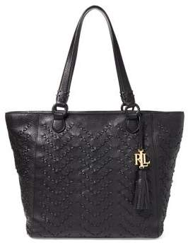 Lauren Ralph Lauren Stitched Leather Yara Tote
