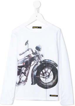 Finger In The Nose motorcycle print T-shirt