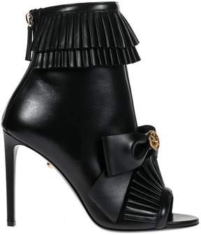 Fausto Puglisi Leather Boots Sprung 100mm
