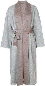 Fabiana Filippi two-tone belted coat