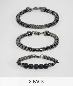 Aldo Textured Bracelets In 3 Pack