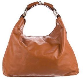 Gucci Leather Horsebit Hobo - BROWN - STYLE