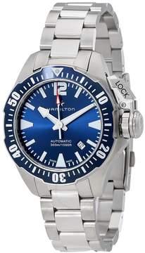 Hamilton Khaki Navy Frogman Automatic Blue Dial Men's Watch