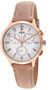 Fossil Abilene CH3016 Women's Round Light Brown Leather Watch