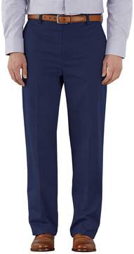 Charles Tyrwhitt Marine Blue Classic Fit Flat Front Non-Iron Cotton Chino Pants Size W30 L38