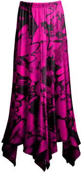 Lily Purple & Black Floral Handkerchief Skirt - Women & Plus