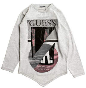 GUESS Long-Sleeve Graphic Tee (8-18)