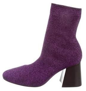 Celine 2016 Metallic Knit Ankle Boots