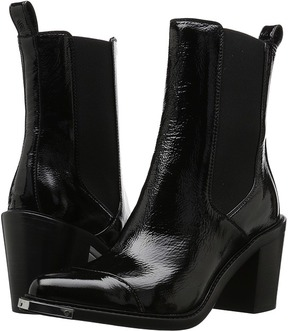 Belstaff Aviland Crackled Patent Leather Ankle Boots Women's Boots