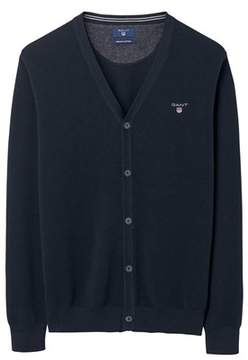 Gant Men's Blue Cotton Cardigan.