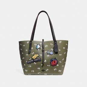 COACH COACH DISNEY X MARKET TOTE WITH SPOOKY EYES PRINT - ARMY GREEN/BLACK COPPER