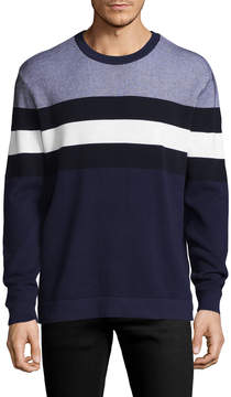 Armani Exchange Men's Stripe Waffle-Knit Sweater