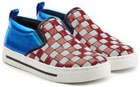 Marc Jacobs Leather Slip-On Sneakers with Sequins
