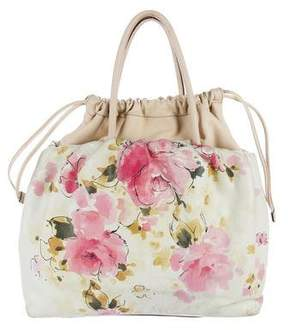 Dolce & Gabbana Printed Floral Handle Bag - WHITE - STYLE