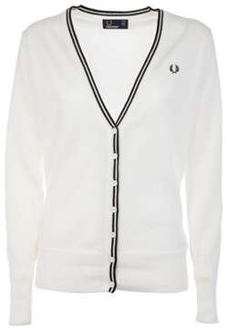 Fred Perry Women's White Cotton Cardigan.