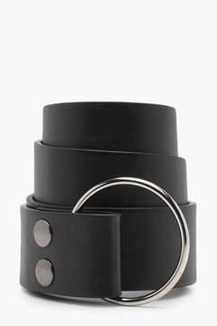 boohoo O-Ring Popper Waist belt