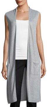 Joan Vass Sleeveless Duster Vest