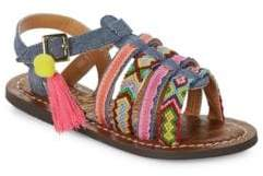 Sam Edelman Girl's Gigi Embroidered Sandals