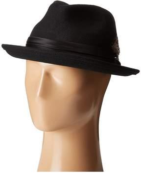 Stacy Adams Crush Wool Felt Fedora Fedora Hats