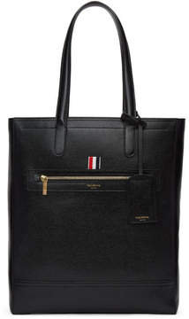 Thom Browne Black Leather Tote