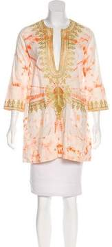 Anya Hindmarch Embroidered Tie-Dye Tunic