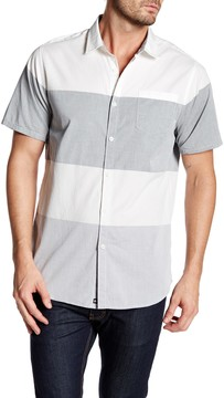 Micros Short Sleeve Striped Woven Shirt