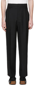 Lemaire Black Two Pleat Trousers